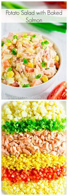 A twist on the basic Russian potato salad.
