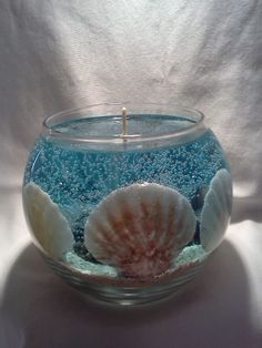 Sea Shell Gel Candle