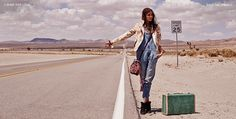 our ranch hand overall hits the road in shopbop's latest lookbook. #currentelliott
