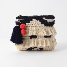 by Another Edition at ShopStyle. Now for Sold Out. Bag Crochet, Crochet Clutch, Diy Pochette, Ethnic Bag, Diy Accessoires, Boho Bags, Knitted Bags, Mode Inspiration, Handmade Bags