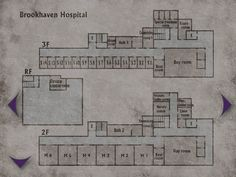 Brookhaven Hospital - Floors 2, 3, and Basement (Silent Hill 2)