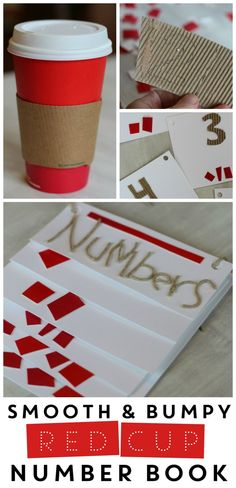 Red Cup Number Book: A fun family book-making project, and a good excuse for a latte! :)