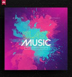 Music Album Cover Template PSD
