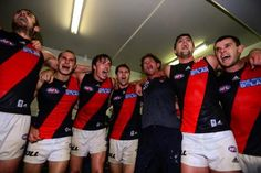 Essendon v Fremantle 12.04.13. Down by 37 points at half time and win by 4 points! What a game of courage and determination.