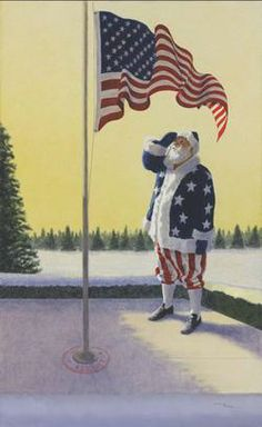 Santa takes time to honor our military heroes who have fought for our freedom. By Ralph McDonald