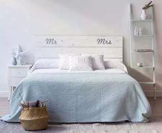 respaldo de cama o sommier en madera 2 plazas