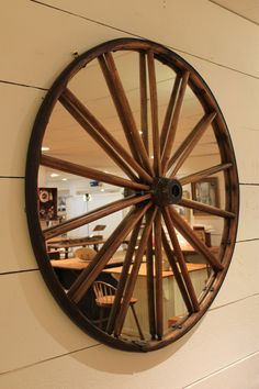 Mirrors : MR-16 Wagon Wheel Mirror put on wall by middle door
