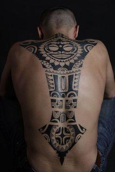 Maori tattoo is a symbol of rank, social status, power, and prestige. Maori Tattoo Ideas - The Ultimate Collection of Ta Moko Maori Tattoos, Irezumi Tattoos, Tribal Back Tattoos, Ta Moko Tattoo, Back Tattoos For Guys, Maori Tattoo Designs, Marquesan Tattoos, Samoan Tattoo, Celtic Tattoos