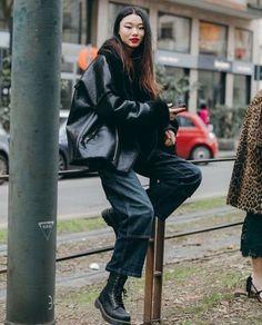 High Street Fashion, Japanese Street Fashion, Asian Fashion, Chinese Fashion, Seoul Fashion, Image Fashion, Look Fashion, Winter Fashion, Fashion Black