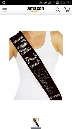 21st birthday sash