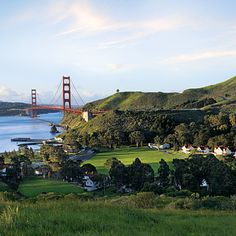 """Cavallo Point Lodge    Sausalito, CA    Cavallo, a former  army base turned hotel right next to the world's most beautiful bridge, gets major points for its """"soulful, creative use of a historic site,"""" landing it on our list of Bay Area contenders. The perks? Free yoga in a converted chapel, massages at the """"cathedral-ceilinged"""" spa, and hard-to-find apertifs and beers at Farley Bar, right next to the Michelin-starred Murray Circle restaurant. And just steps from your room are coastal trails…"""