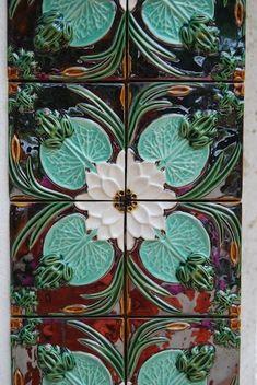 portuguese tiles   Portuguese ceramic tiles by Bordalo Pinheiro by fsdsfds