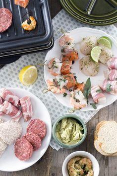 Artikel met heel veel gourmetinspiratie. Gourmetten, maar dan net even anders. Vlees, vis en vega gerechtjes. Via BrendaKookt.nl