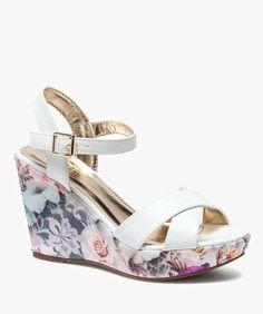 Sandales compensées Blanc