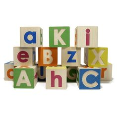 ABC Wooden Blocks-Upper & Lower Case by Uncle Goose