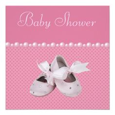 Baby Shower Pink Shoes, Clothes  Jewel Pacifier Invite