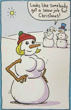 Looks Like Somebody Got A Snowjob For Christmas | Click the link to view full image and description : )