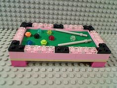 Pink Lego pool table - who wants some bling?!!