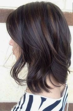Dark brunette with low light streaks