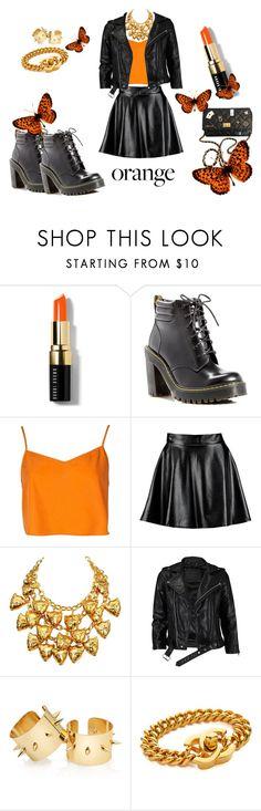"""Orange Crush"" by mafita015 ❤ liked on Polyvore featuring beauty, Bobbi Brown Cosmetics, Dr. Martens, Boohoo, ESCADA, VIPARO, Chanel, Beauty, rebel and orange"