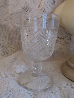 19th Century American Pressed Glass Stemmed Cordial Liqueur Goblet Cup VERY NICE #Unknown