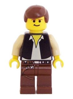 Han Solo (Brown Legs with Holster, YF) - LEGO Star Wars 2 Inch Minifigure