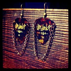 Guitar Pick Jewelry by FireNAsh on Etsy....Inspiration