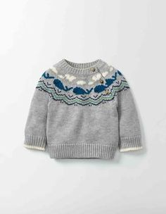 "Whales Knitted Sweater Boden ""Whales Knitted Sweater 71590 Knitted Sweaters at Boden"", ""Your little bundle just got even more joyful with our supersoft Baby Knitting Patterns, Baby Sweater Knitting Pattern, Baby Boy Knitting, Knitting For Kids, Knitting Wool, Baby Boy Sweater, Knit Baby Sweaters, Boys Sweaters, Icelandic Sweaters"