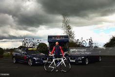 Sir Bradley Wiggins of Great Britain and team Wiggins poses for a photo ahead of the Tour de Yorkshire on April 30, 2015 in York, England.