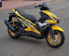 Aerox 155 Yamaha, Sportbikes, Scooters, Motorcycles, Racing, Vehicles, Tools, Motorbikes, Running