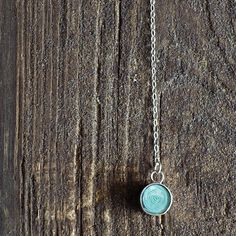 Long Sterling Silver Necklace with Teal Paper Bead / Paper Jewelry / Paper Necklace / Modern Minimalist / Gifts for Her / First Anniversary #firstanniversary #jewelry