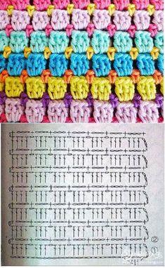 Diy Crafts - Crochet ideas that love Hexagon Crochet Pattern, Crochet Motifs, Crochet Diagram, Crochet Stitches Patterns, Crochet Chart, Crochet Squares, Crochet Designs, Crochet Baby, Free Crochet