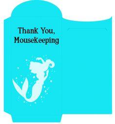 Mousekeeping Little Mermaid Envelope