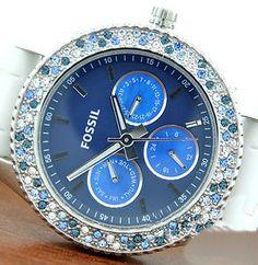 Blue multi bezel fossil watch