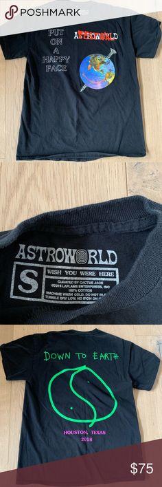 9a9c25ab17ac Travis Scott Astroworld Houston Festival t-shirt Authentic Astroworld tour  shirt from 2018 Houston festival