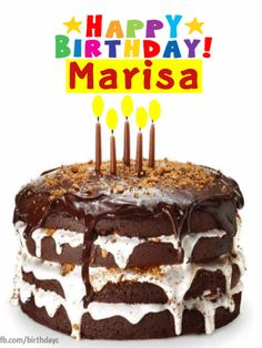 Happy Birthday Marisa images gif
