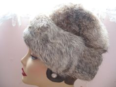 1960's Rabbit Fur Hat with Tag  Snow by SusieQsVintageShop on Etsy, $82.00