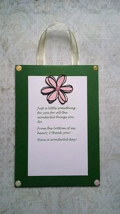 Thank You Hanging Card Thank You Gift Thank You Sign Thank