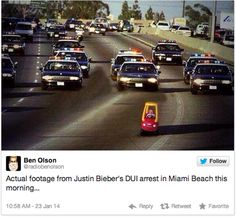 The Internet's Reaction To Justin Bieber's Arrest – 18 Pics