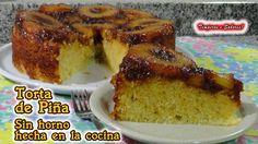 TORTA DE PIÑA SIN HORNO hecha en la cocina, deliciosa, perfecta y muy fácil