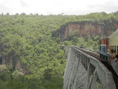Amazing viaduct on the way to our trek in Northern Myanmar (Burma) built in 1900 #travel