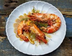 Jumbo prawns with Champagne and dill sauce - CookTogether