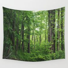 Forest Wall Tapestry by Kameron Elisabeth