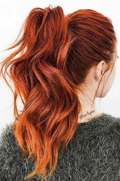 Best And Amazing Red Hair Color And Styles To Create This Summer; Red Hair Color And Style; Giner And Red Hair Color; Auburn Hair Copper, Red Copper Hair Color, Ginger Hair Color, Cool Hair Color, Color Red, Ginger Hair Dyed, Deep Red Hair Color, Deep Auburn Hair, Hair Color For Spring