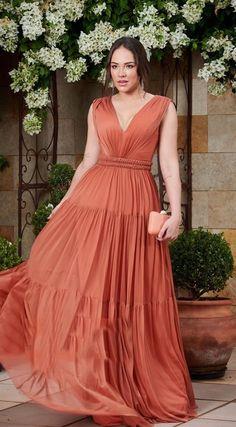 Terracota, Bridesmaid Dresses, Wedding Dresses, Formal Dresses, Fashion, Long Dress Party, Bridesmaids, Coral Color Wedding, Bridesmade Dresses