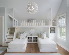 What a cute room! love the light fixture.