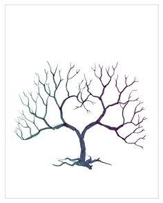 """Printable fingerprint tree (4950×6150) What to tell your printer: The tree is sized to be printed 16"""" x 20"""" with a quarter inch bleed {they'll know what this means!} You want """"Archival"""" or """"Acid Free"""" paper {this will ensure it lasts through the years and goes for your ink purchase for your fingerprints, too!}"""