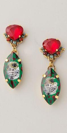 Erickson Beamon Eccentric Lady Land Earrings