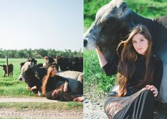 Senior Session / Location -  At the Ranch with a Brahman Bull / Private Property Central Florida, FL / Senior Photography with Caroline Maxcy Photography (www.carolinemaxcy.com)