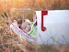 Creative Newborn Photography..  Newborn in a mailbox..